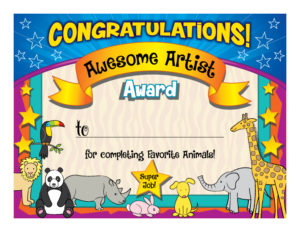 cute completion certificate